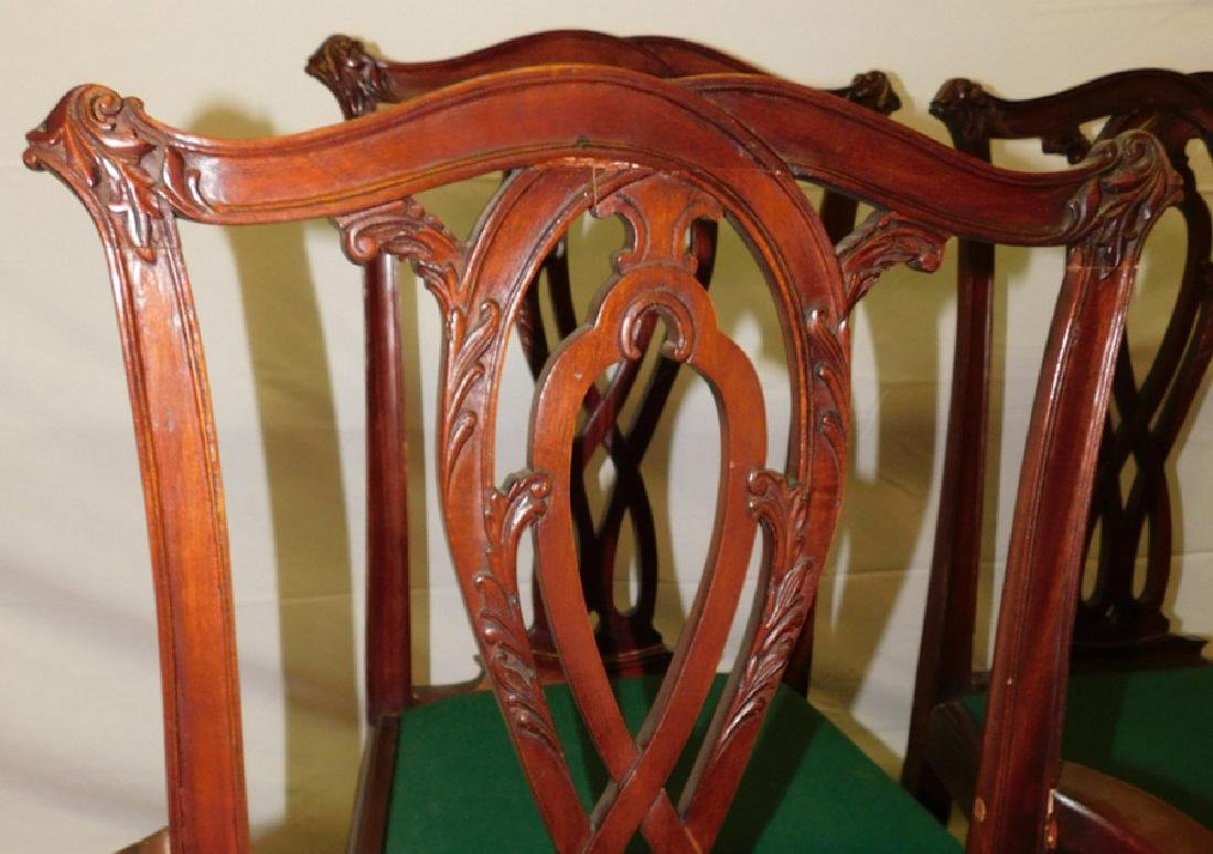 Set Of 6 Mahogany Chippendale Dining Chairs - 2