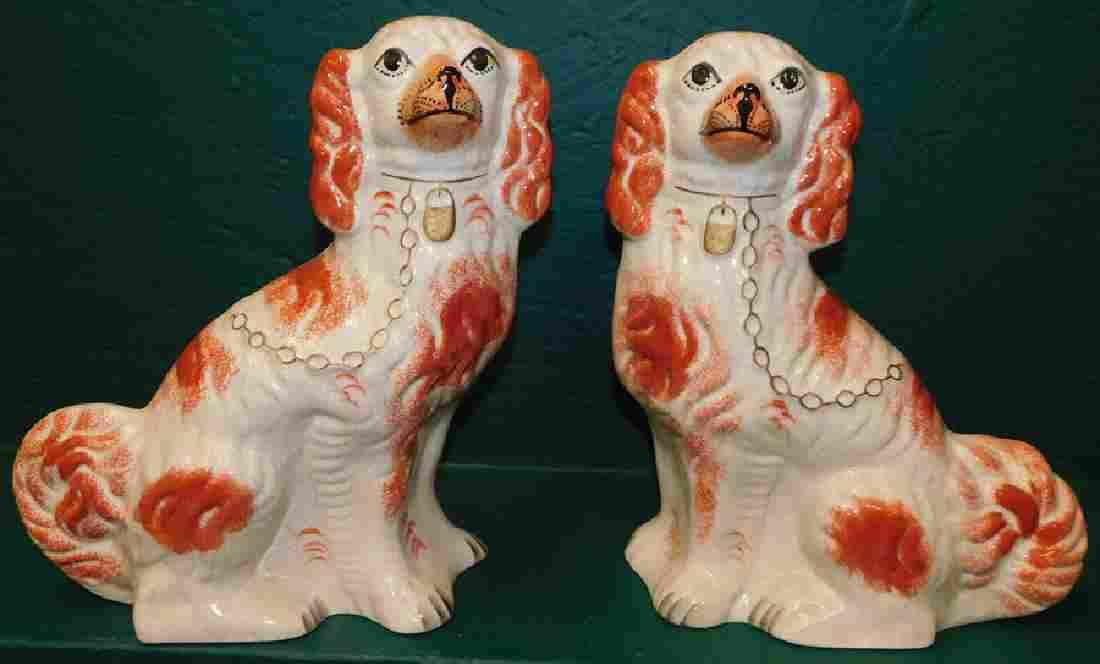 Pair Of Staffordshire Spaniels