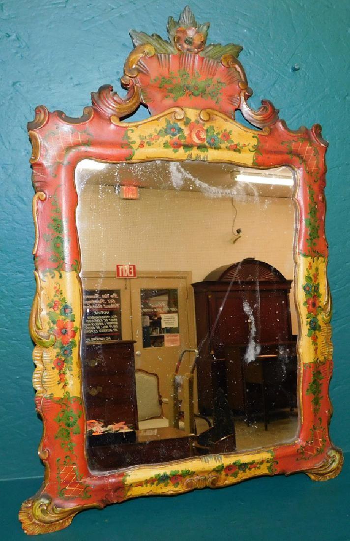 19th C Painted Venetian Mirror