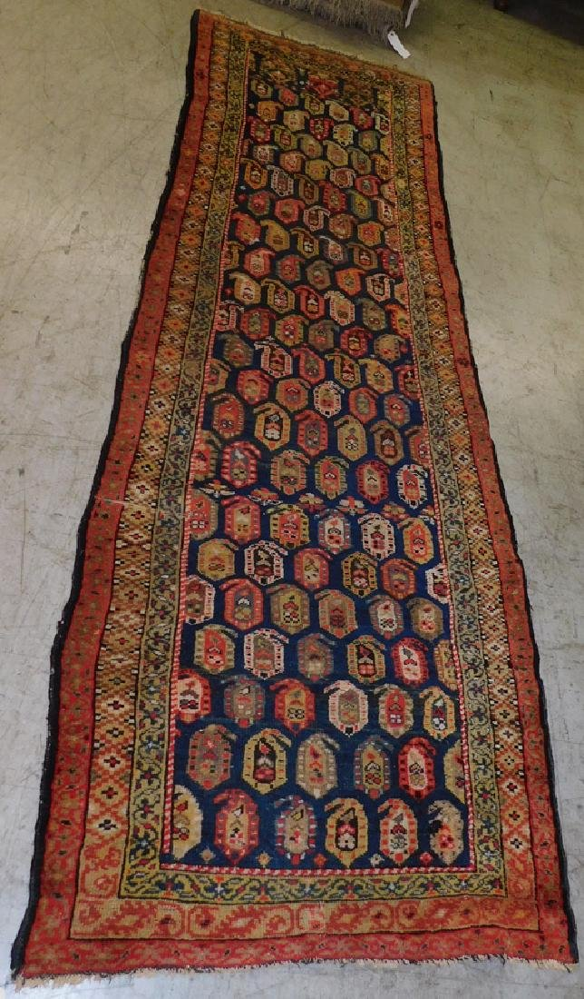 "3' 4"" X 10' Antique Handmade Oriental Rug"