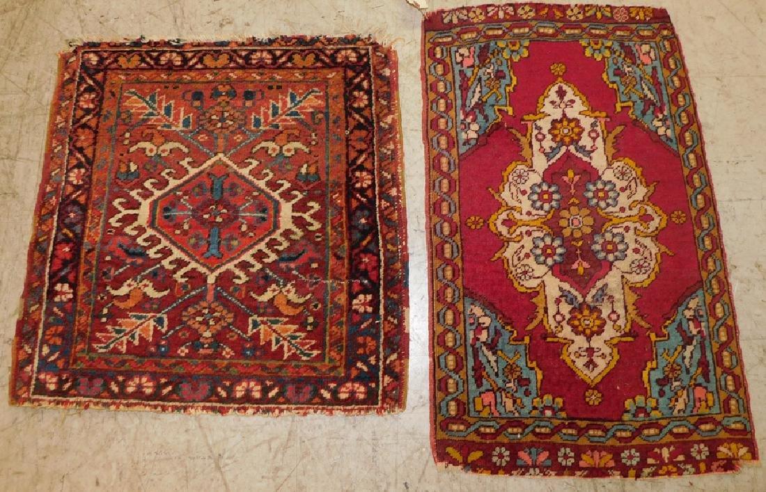 "2 Antique Handmade Oriental Rugs 1' 7 ""X 2' 7"""
