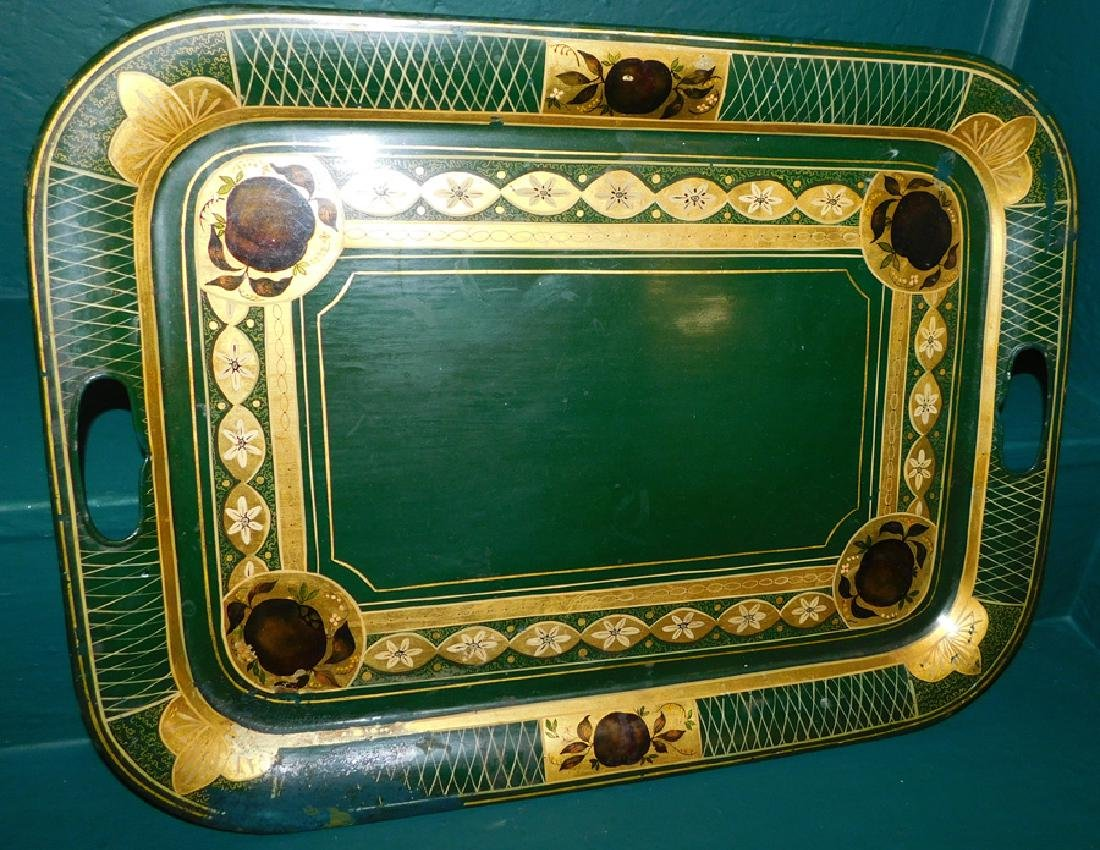 19th C Tole Painted Tray