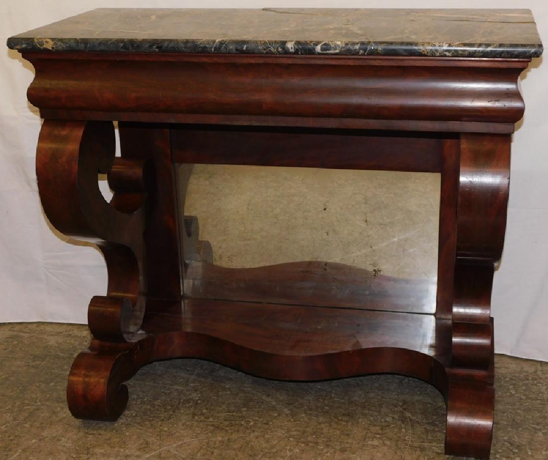 Empire Mahogany Petticoat Table