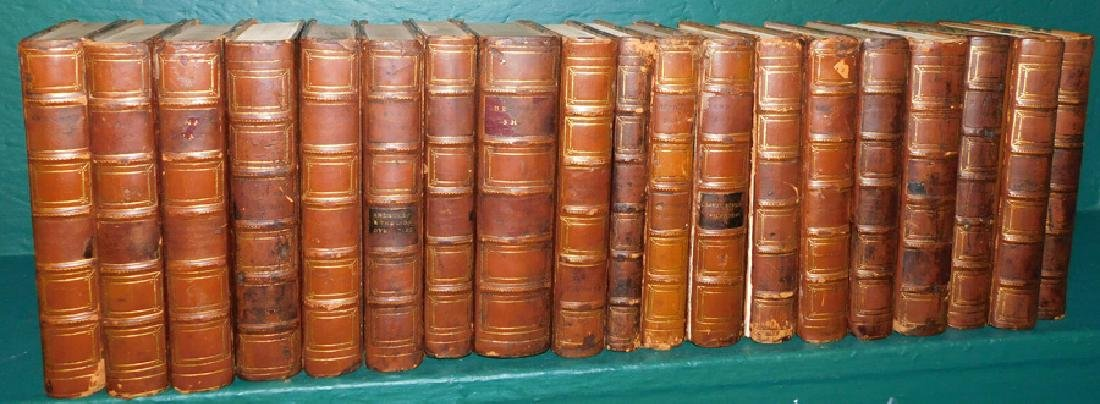 19 Quarter Leather Bound Library Books
