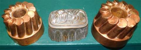 Three Antique Copper Molds