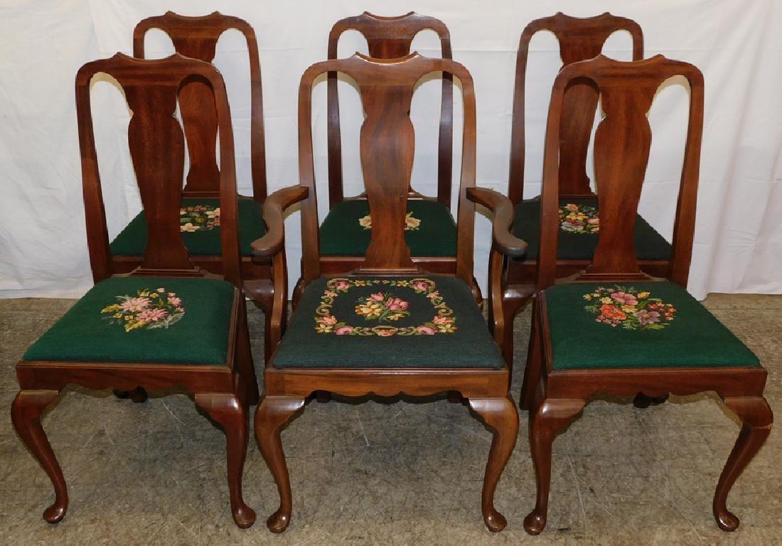 6 Mahogany QA Dining Chairs By Henkel Harris