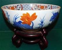 Oriental Porcelain Bowl On Stand