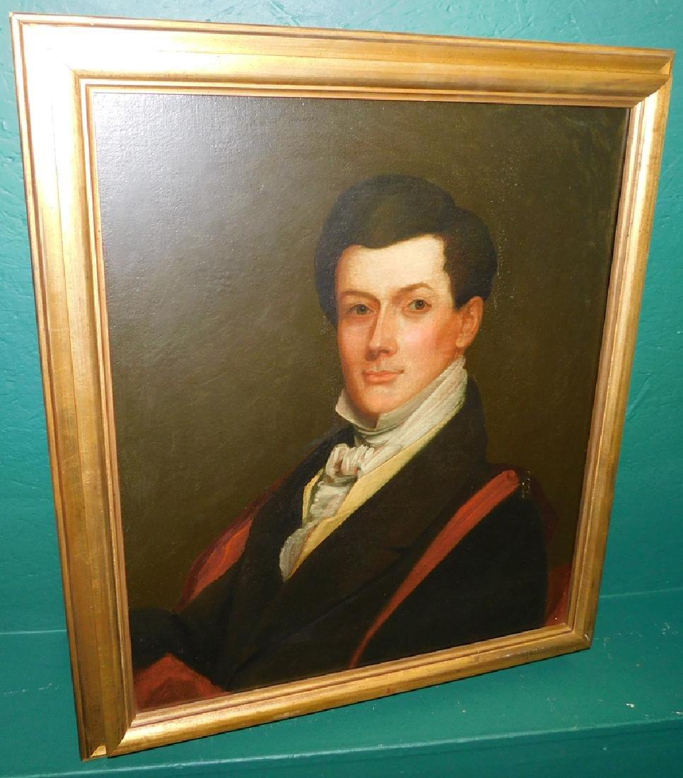 Oil On Board Portrait Of Gentleman