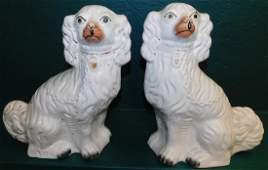 Pair Staffordshire Spaniels