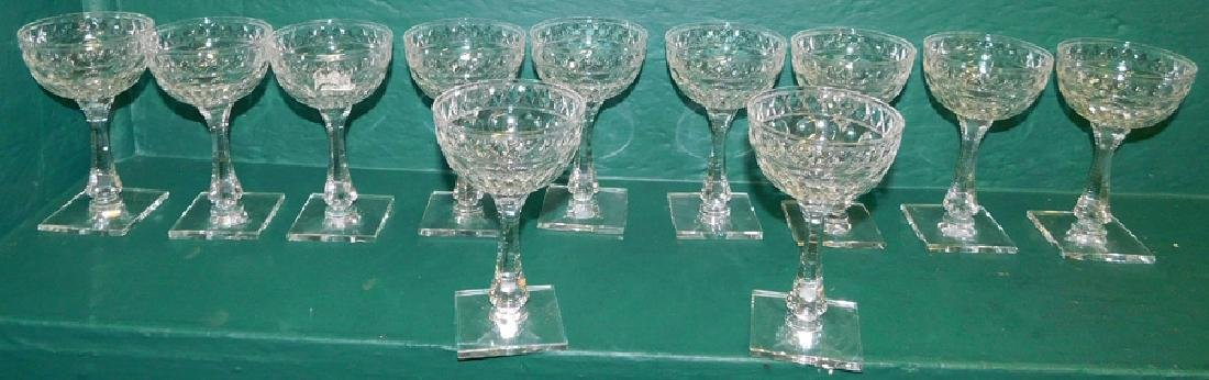 11 Pc Crystal Stemware Signed Hawkes