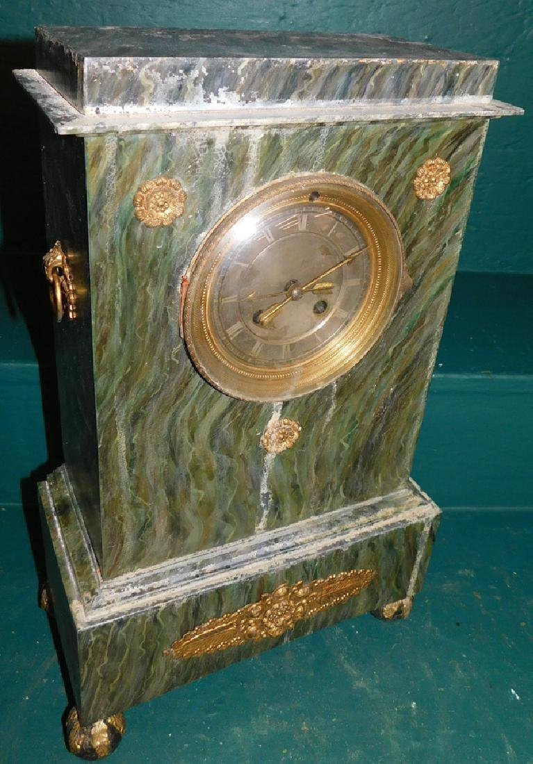 Empire Tole Painted Mantle Clock