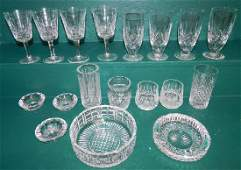18 Pc Waterford Crystal