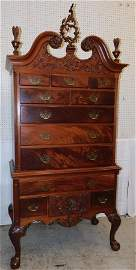 Scholte Furniture Co. Mahog Chipp Highboy