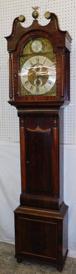 Mahogany Grandfather Clock By J. Watt Huntly