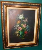 Oil on Canvas Still Life Signed L. Ruggeri