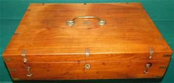 Brass Bound Mahogany Campaign Document Box