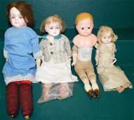 Collection 4 Paper Mache Dolls