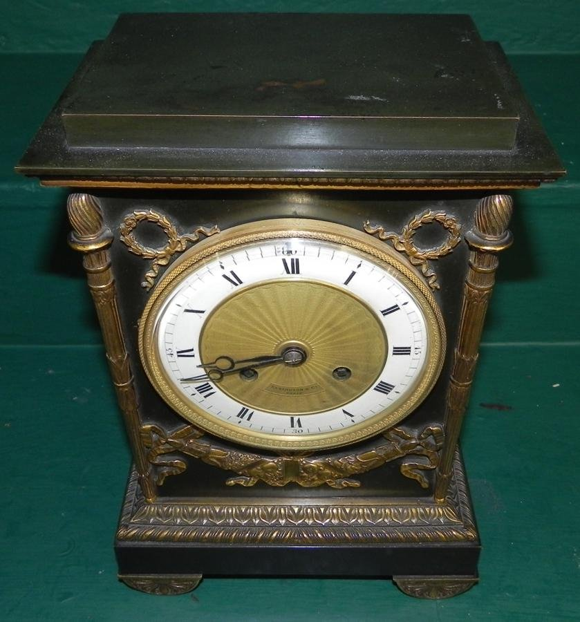 Elkington & Co French Mantle Clock