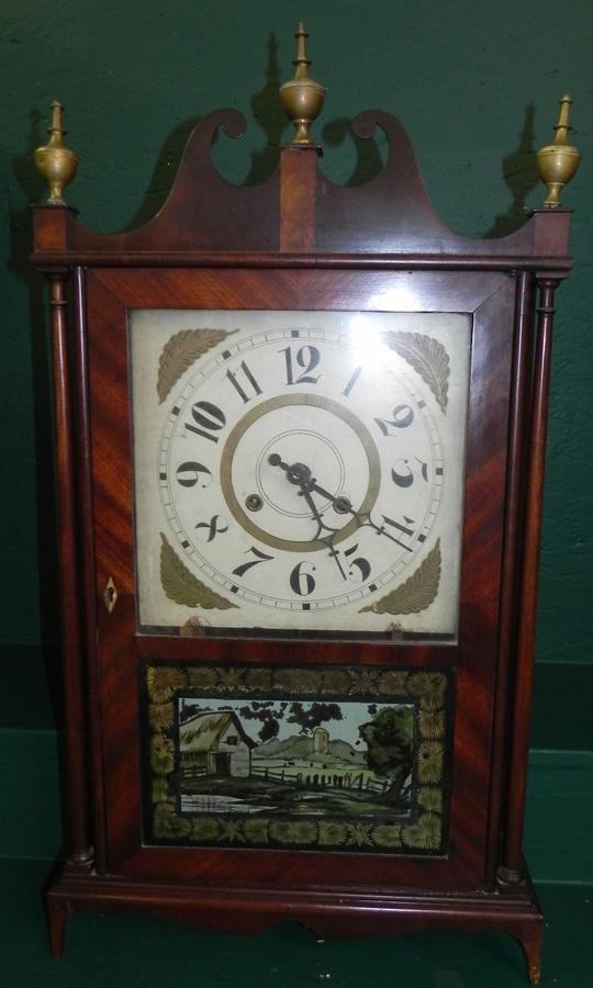 Eli Terry Style Pillar & Scroll Clock