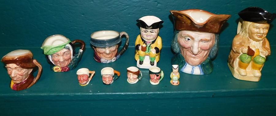 Collection 11 English Toby Mugs