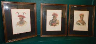 Collection Of 3 Native American Colored Prints