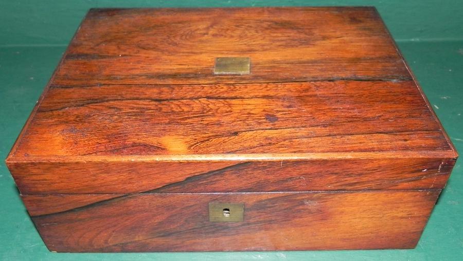 19th C Rosewood Lap Desk