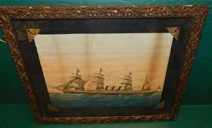 Framed Steamer print