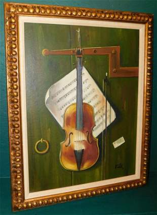 OOC of violin signed