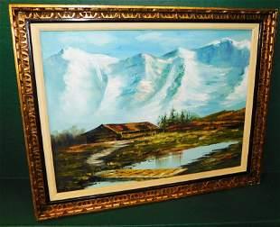 OOC of Alpine scene, signed