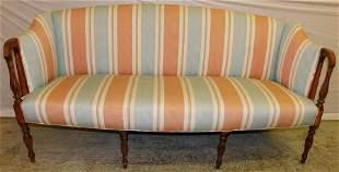 Sheraton inlaid mahogany sofa