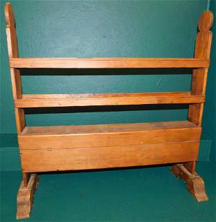 19th C  pine  rack