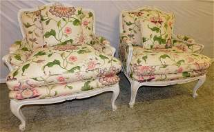 Pair of oversized Bergeres