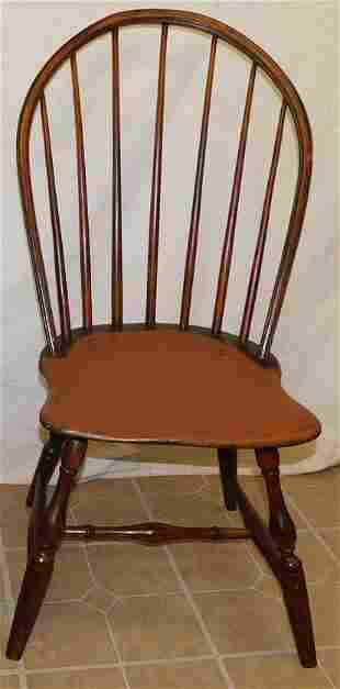 Antique Saddle Seat 7 Spindle Windsor Side Chair