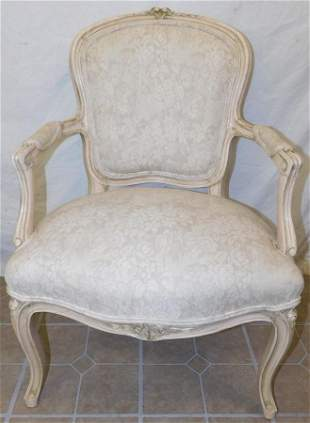 Paint Decorated Fauteuil