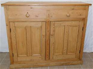 19th C Pickle Pine Double Door Cabinet