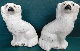 Pair Early Staffordshire Spaniels