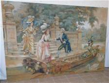 Large French Painted Tapestry