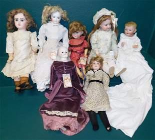 Lot 7 Antique Dolls