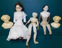 Paper Mache Dolls  2 Heads