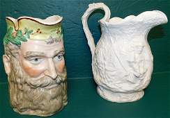Two 19th C English Porcelain Pitchers