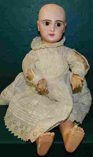 Antique French Bisque Head Doll