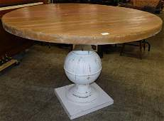 Contemporary Butcher Clock Top Round Table