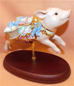 """Lenox Figure---- """" Blue Ribbon Carousel"""""""