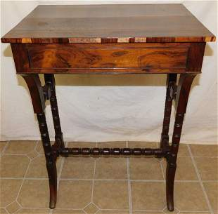 19th C Rosewood One Drawer Stand