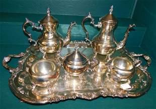 6 Pc SP Tea Set By Rogers