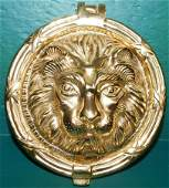 Cast Brass Lion Head Door Knocker