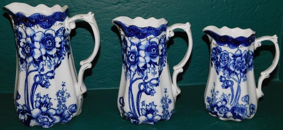 3 English Doulton Porcelain Pitchers