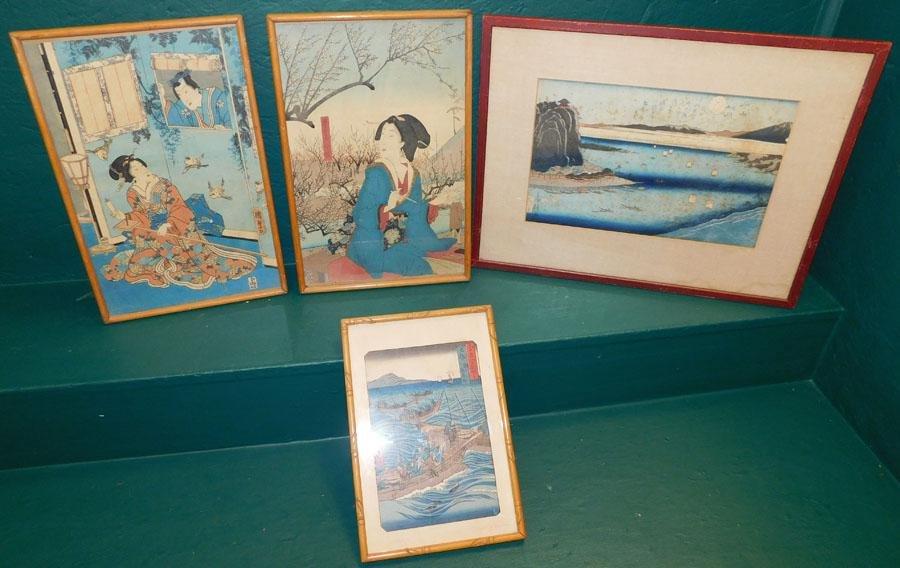 Set Of 4 Oriental Water Colors