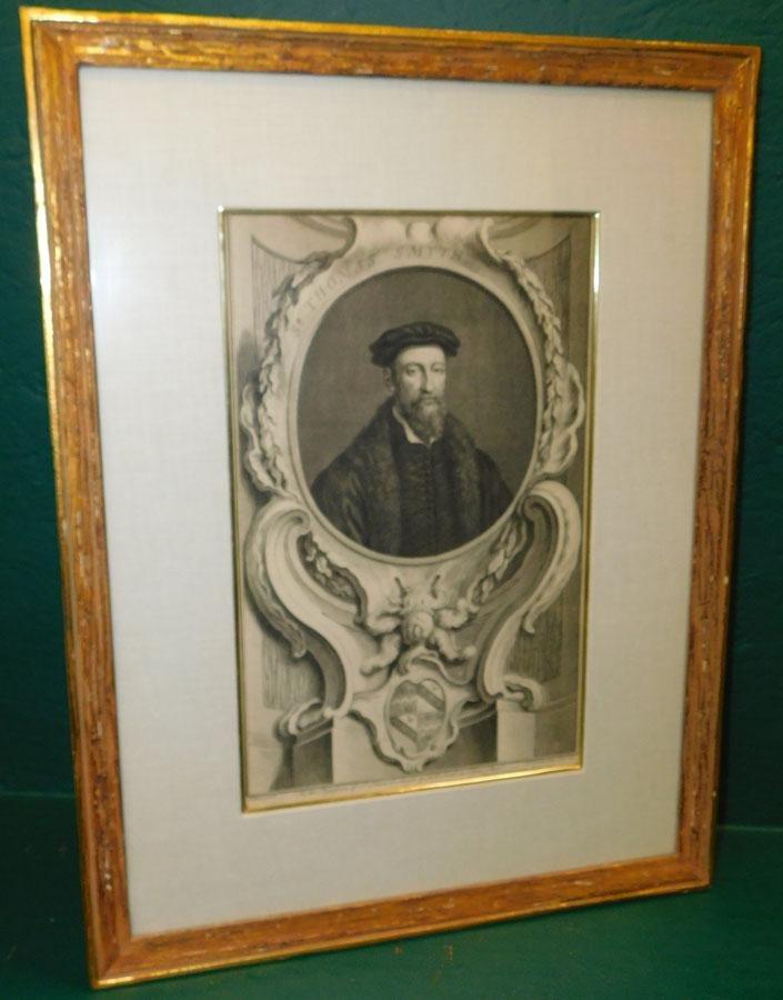 Framed Engraving Or Print  Of Sir Thomas Smith