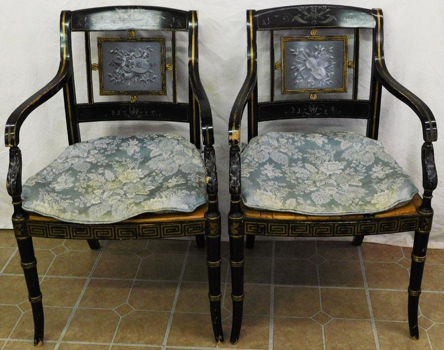 Pair Regency Style Chairs